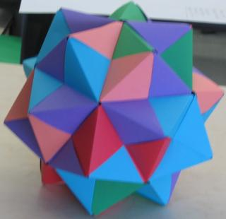 polyhedron This is a photo of an origami stellated icosahedron.